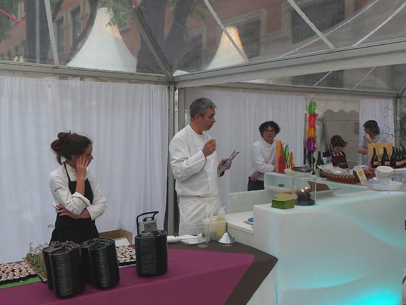 Gli chef Pietro Leemann,  Fabio Barbaglini