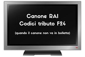 Canone RAI Codici tributo F24
